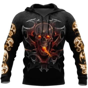 PLstar Cosmos New Armor Tattoo and skull Dragon 3D Printed Hoodies For Men/Women Harajuku Hooded Sweatshirt Cosplay Casual