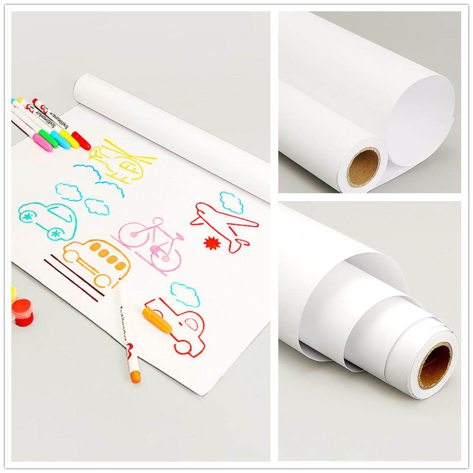 10m/roll White Drawing Paper Arts Crafts Paper Hand Painted Drawing Sketch For Artist Student Art Supplies Stationery