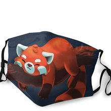 Face-Mask Red Panda FILTER Mouth Reusable with for Outdoor Sports Cycling Lazy