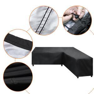 Image 1 - Su geçirmez köşe kanepe L şekli kapak Rattan veranda bahçe mobilyaları koruyucu kapak çok amaçlı açık toz kapakları 4 boyutları