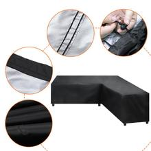 Waterproof Corner Sofa L Shape Cover Rattan Patio Garden Furniture Protective Cover All Purpose Outdoor Dust Covers 4 SIZES