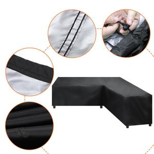 Waterproof Corner Sofa L Shape Cover Rattan Patio Garden Furniture Protective Cover All-Purpose Outdoor Dust Covers 4 SIZES(China)