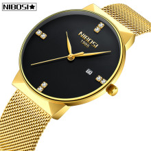 Reloj Relogio Masculino NIBOSI Gold Watch Men Fashion Sport Quartz Diamond Simple Clock Top Brand Luxury Waterproof Mens Watches(China)