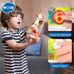 هولا 828 الهيب هوب الرقص المشي سوينغ أوزة الموسيقية التعليمية هدية لعبة للأطفال الصغار 1 سنة تعلم ألعاب تعليمية هدية