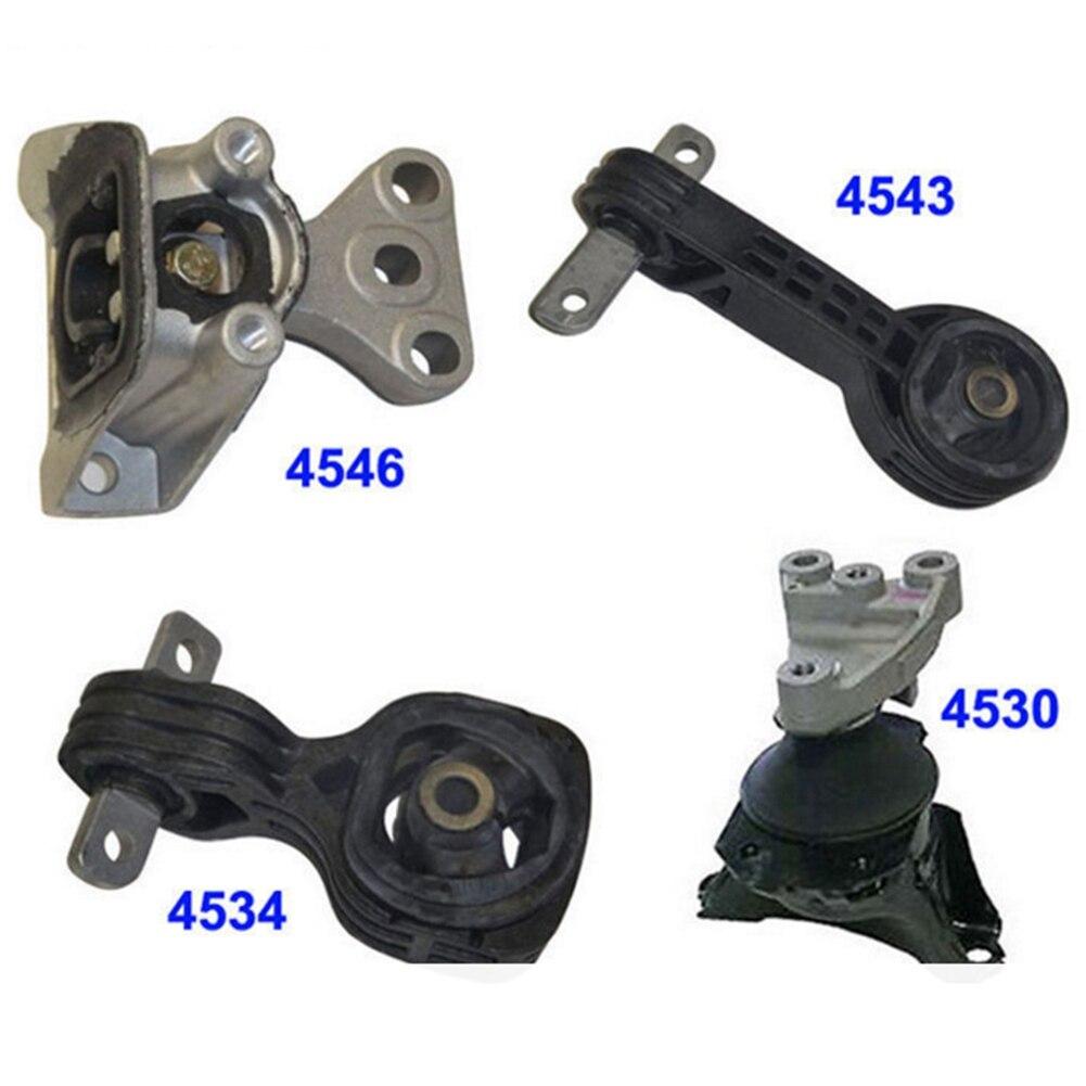 4PCS Engine Motor Transmission Mount Front Rear Kit Set For Honda Civic 1.8L Engine Motor & Trans Mount Automatic 2006-2010