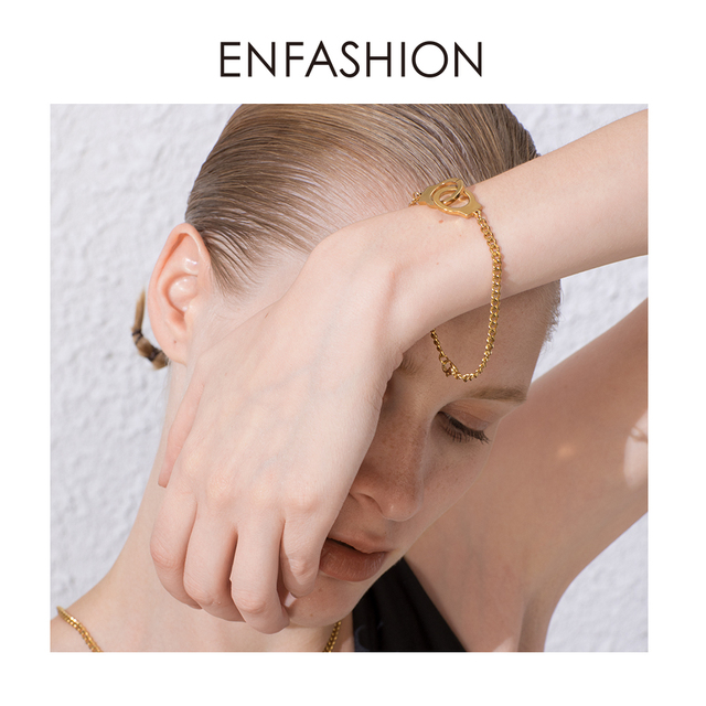 enfashion панк наручные браслеты из нержавеющей стали викинг фотография