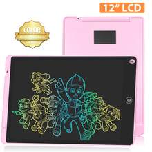 NEWYES LCD Writing Board 12 Inch Colorful Electronic Drawing Graphic Board Digital Tablet Handwriting Erasable Pad for Kids Gift