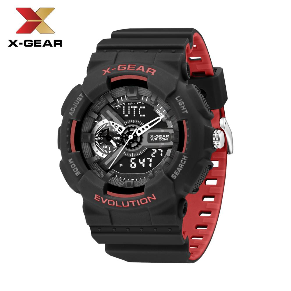 New Brand X-GEAR Fashion Watch Men's LED Digital Watch G Outdoor Multi-function Waterproof Military Sports Watch Relojes Hombre