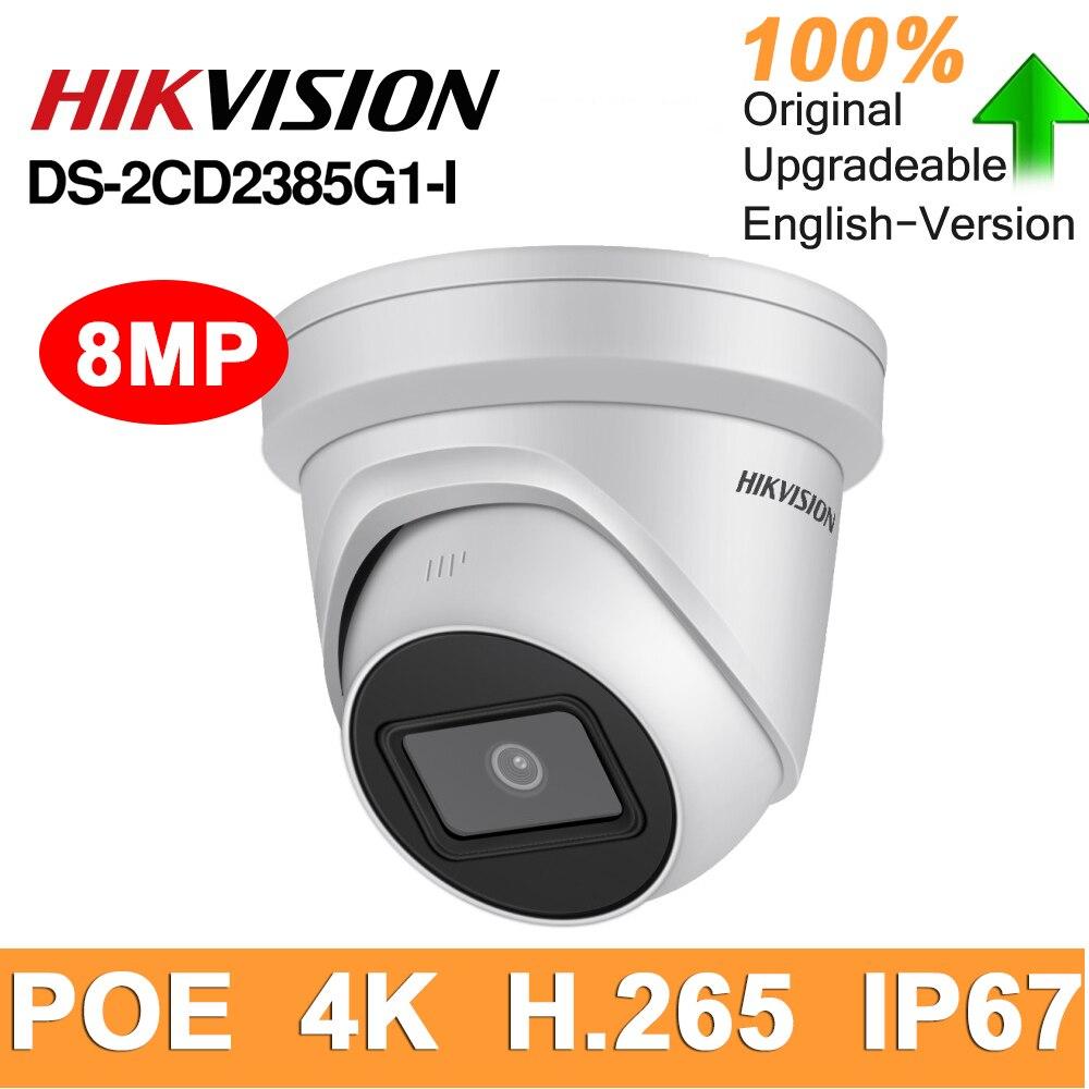 Hikvision original DS-2CD2385G1-I 8mp ip dome câmera de segurança h.265 hd cctv poe wdr câmera face detectar alimentado por darkfighter