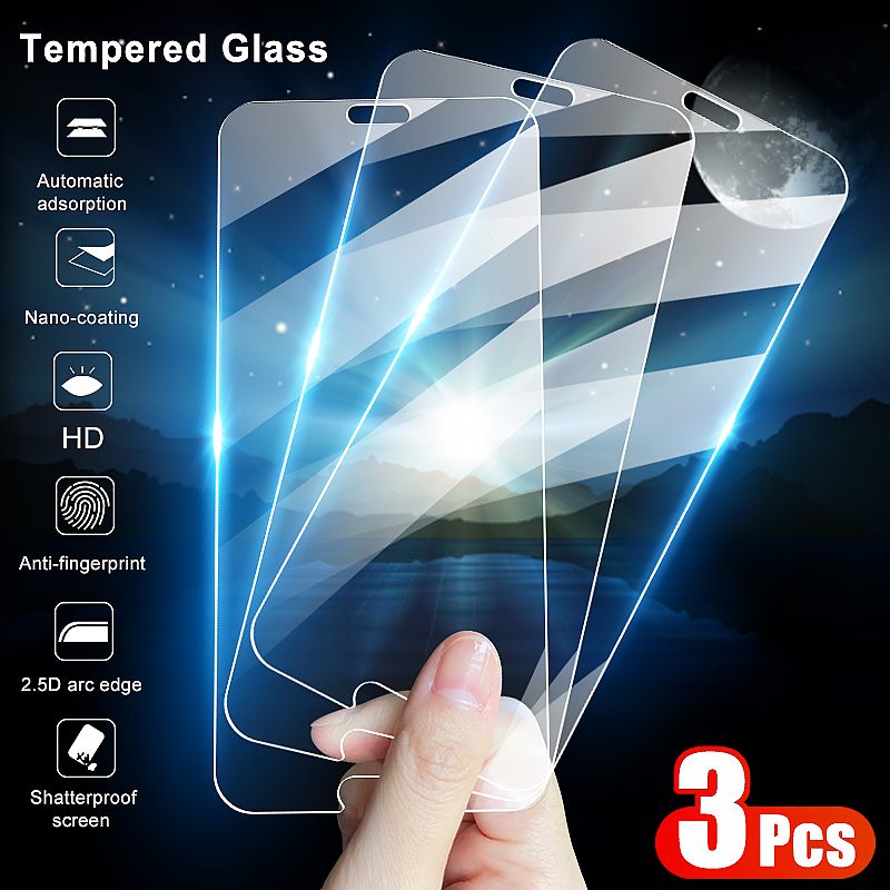 3Pcs Tempered Glass For <font><b>Huawei</b></font> P20 <font><b>P30</b></font> P40 Lite E P Smart 2019 <font><b>Screen</b></font> <font><b>Protector</b></font> For <font><b>Huawei</b></font> Mate 20 30 Lite Protective Glass Film image