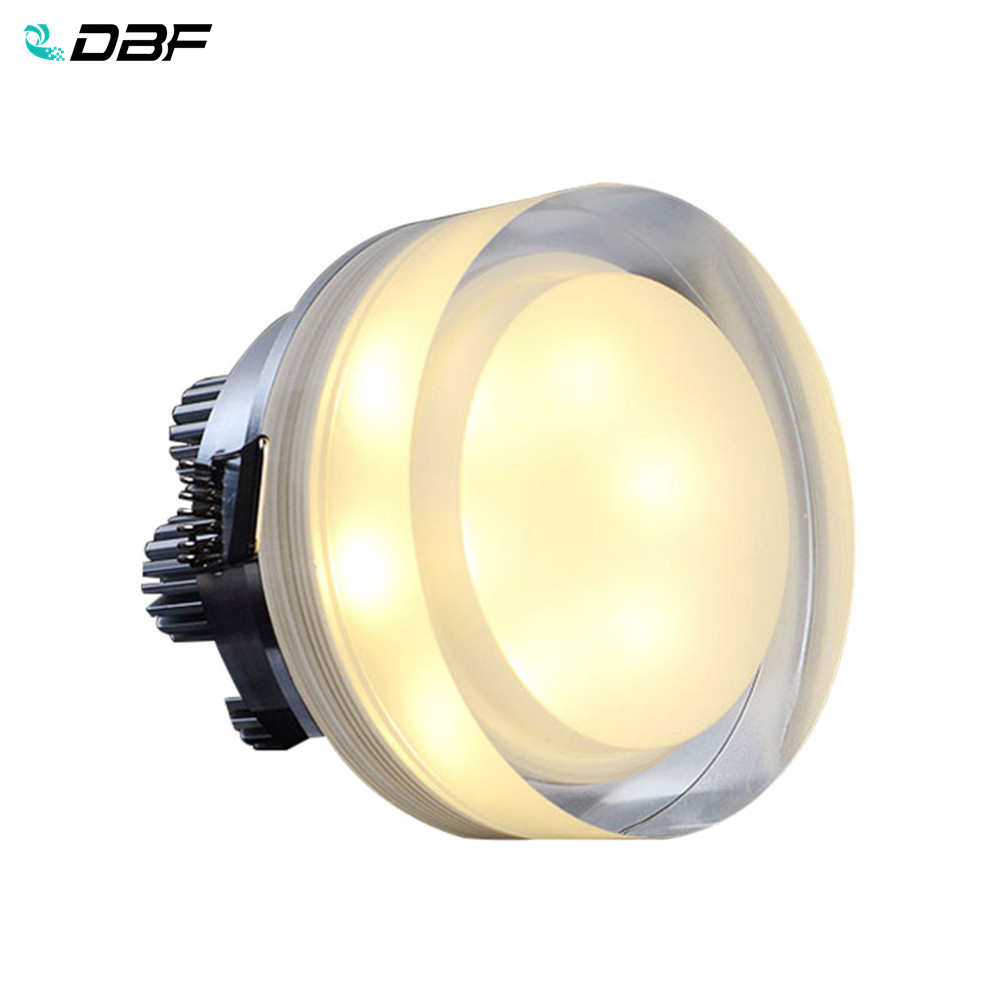 [DBF]Round Crystal LED downlight 1W 3W 5W 7W led recessed Ceiling Light Spot down light for home decora kitchen