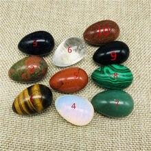 Quartz naturel, oeufs en cristal avec support en bois, Chakra, guérison, pierre Reiki