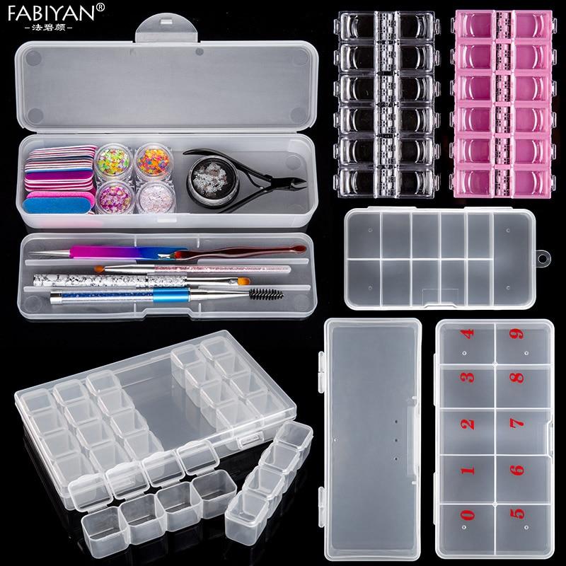 Пустая пластиковая коробка для нейл арта, 12 ячеек, стразы, хрустальные блестящие бусины, аксессуары для украшения, органайзер, контейнер, чехол|nail decoration container|case casecase 12 | АлиЭкспресс