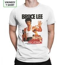 Estilo do dragão bruce lee t camisa masculina 100% algodão camiseta dragão filme kung fu brusli karate china camiseta de manga curta topo