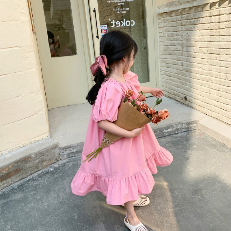 2021 Spring Summer New Arrival Girls Fashion Korean Design Dress Kids Cotton Dress Girls Dress