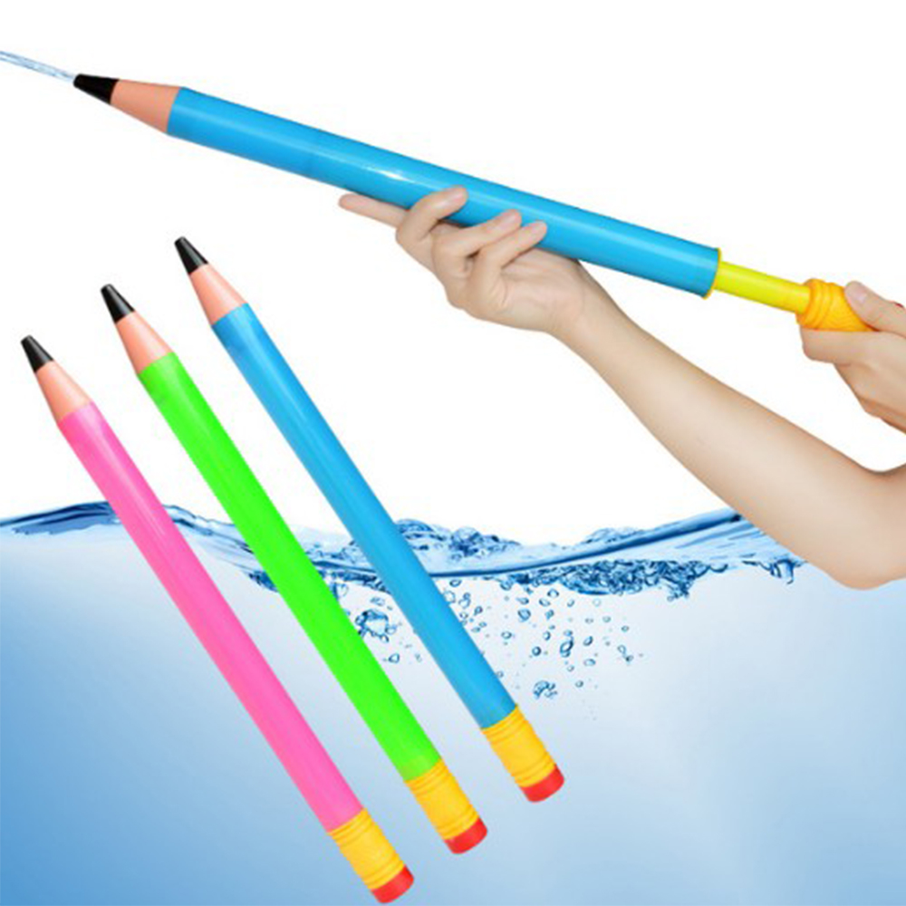 Swimming Pool Toy Pencil Water Guns 44cm Plastic Kids Pistol Blaster Summer  Beach Outdoor Shooter  Sprinkling Toys For Children