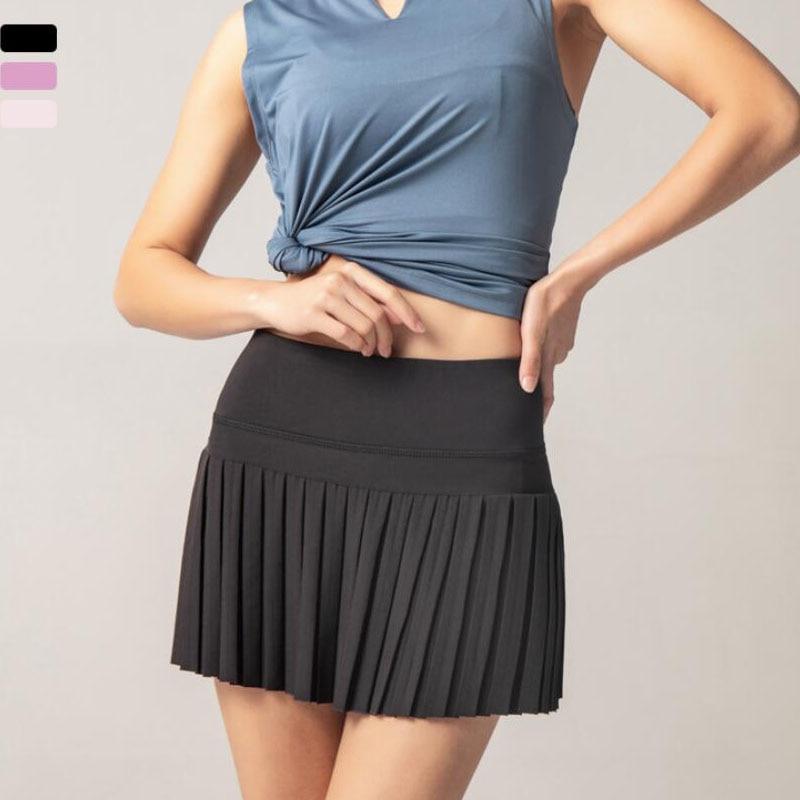 Pleated Skirt Women Running Shorts Gym Fitness Shorts Quick Dry Tennis Sport Shorts Sport9s