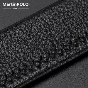 Image 5 - MARTINPOLO 100% Da Bò Chính Hãng Dây Da cho Nam Công Sở Cao Cấp Kim Loại Khóa Tự Động Thắt Lưng Ví Da Bò Dây Đeo thời trang MP02801P