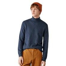 SEM/R – Pull d'hiver à col roulé pour jeune homme, chaud à l'intérieur, tendance, fond, 2020