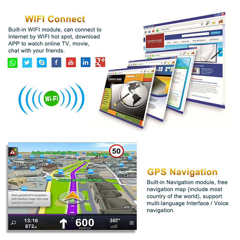 Android 9'' VW GPS 2 din 4