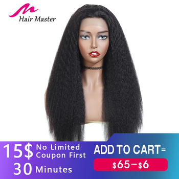 Glueless Lace Front Human Hair Wigs Pre Plucked Remy 13x4 Yaki Human Hair Wigs For Black Women Indian Kinky Straight Wig