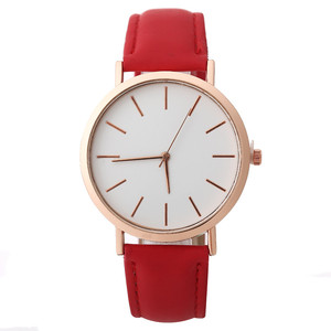 Image 5 - פשוט נשים שעון מזדמן סגסוגת נשים שעונים למעלה מותג יוקרה עור אנלוגי עגול קוורץ שעון יד Relogio שעוני יד