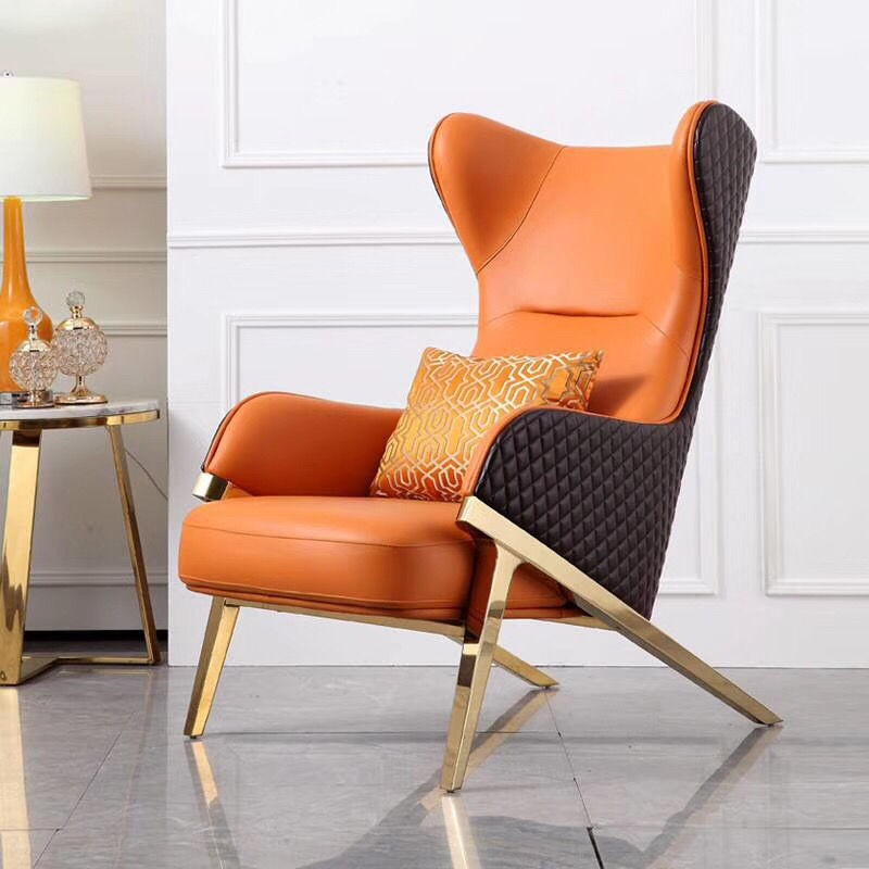 Nordic modern minimalist single sofa chair home living room net red light luxury casual tiger chair