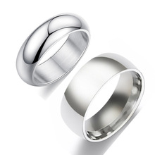Classic Wedding Ring for Men Women 6mm 8mm Wide Stainless Steel Couple Engagement Wedding Bands Popular Jewelry US Size 5-13 cheap zhimly lovers Metal TRENDY ROUND All Compatible anillos para hombre E0861 Tension Mount Anniversary rings for men bague homme