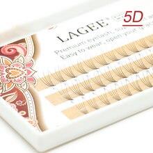 LAGEE-extensiones de pestañas de visón falso 3D-6D PreVolume, pestañas prefabricadas, espesor de rizo C, 0,07mm, suaves y naturales, alta calidad
