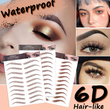 Eyebrow-Tattoo-Sticker Water-Transfer Eyebrow-Makeup-Supplies Embroidery Bionic Hair-Like