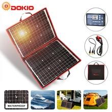 Dokio 18V 80W Flexible Foldble Mono Solar Panel Outdoor Portable For Travel&Boat&RV High Quality China
