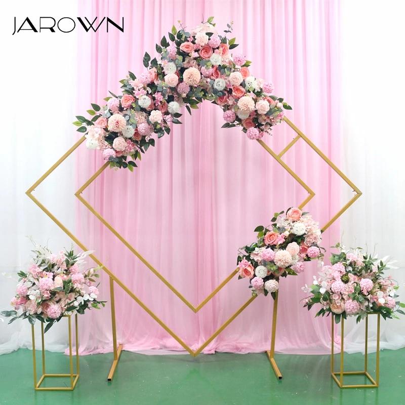 Jarown Wedding Arch Rhombus Shelf Backdrop Frame Quadrilateral Geometry Flower Stand Shooting Props Wedding Arrangement Decor Artificial Dried Flowers Aliexpress