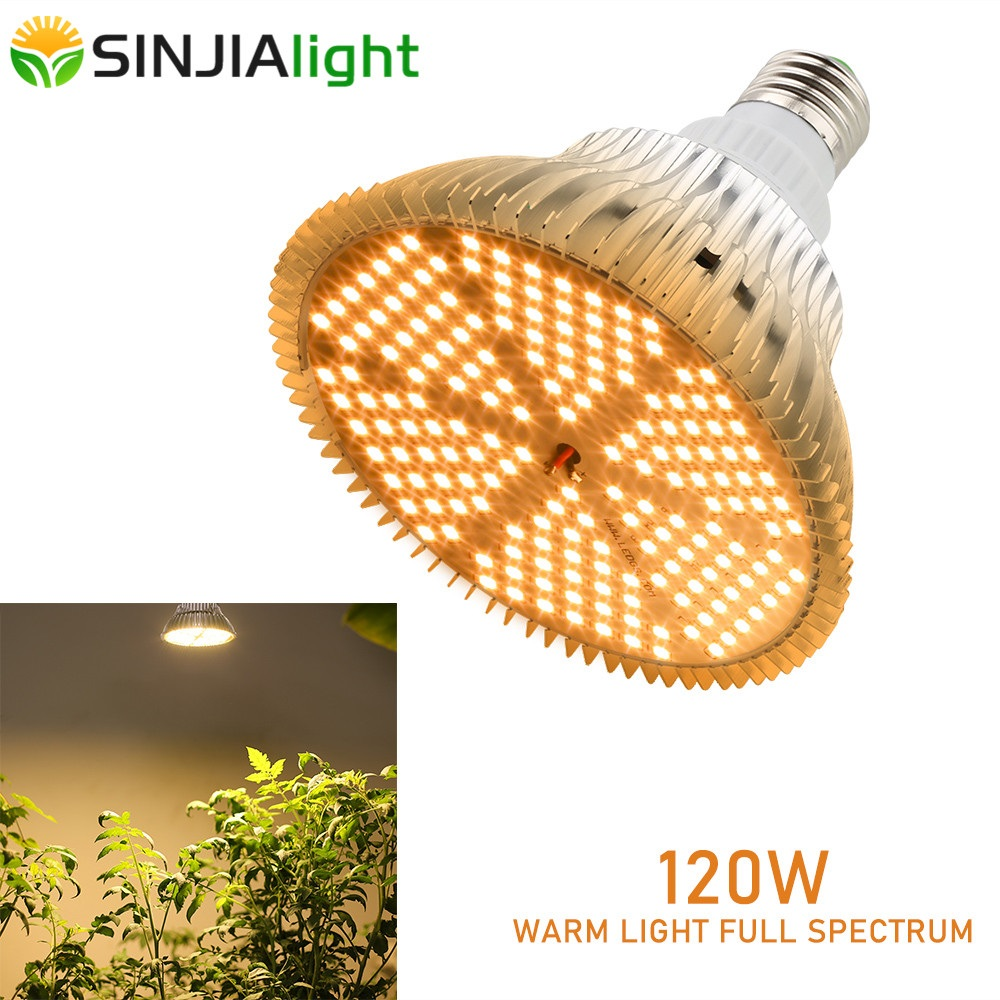 120W Warm White LED Grow Light 180LEDs Plant Phyto Lamp Led Bulb For Plants Flowers Garden Indoor Growing Tent Greenhouse E27