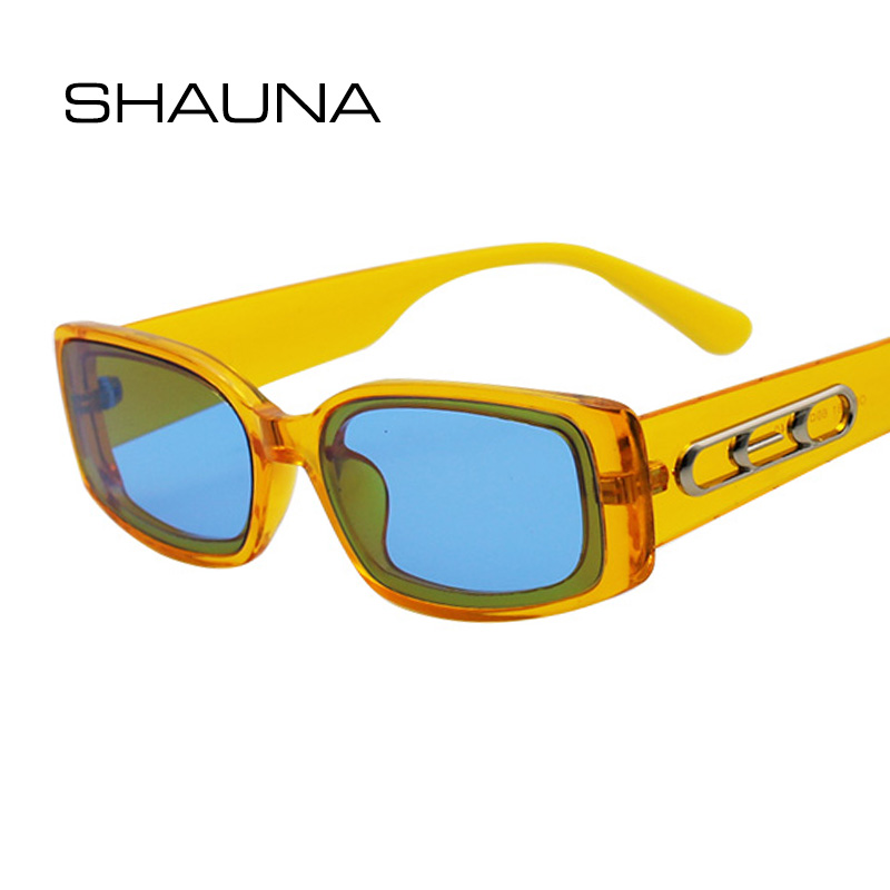 SHAUNA Ins Popular Small Rectangle Sunglasses Women