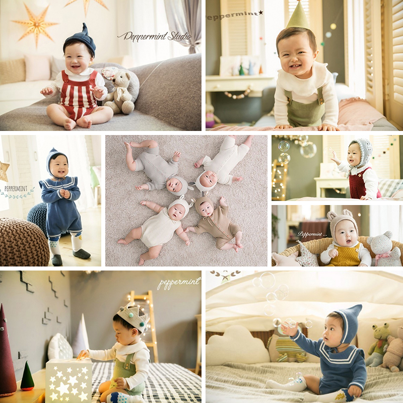 3 Mohth Photography Props Clothes Newborn Baby Photo Clothes Children Photography Romper Boy And Girl Clothes