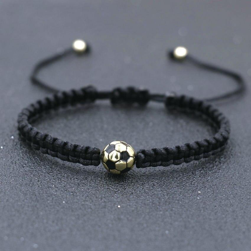 Minimalism Copper Gold Color Ball Charm Bracelet Black Thread Braid Bracelets For Women Men Girls Boy Kids Couples Jewelry Gift