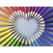 Diy картина по номерам цветные мелки сердце Картина маслом Раскраска