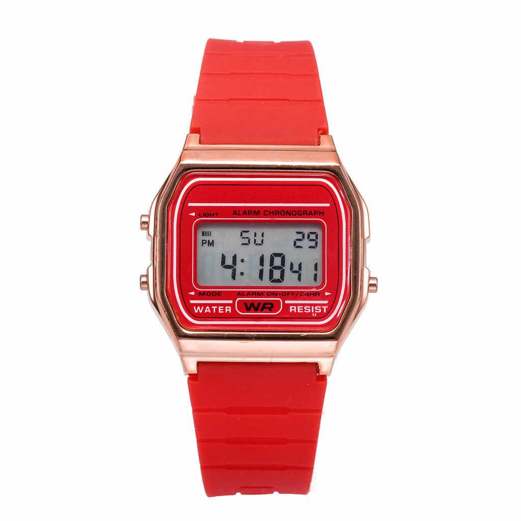 Elektronik spor saat çift saatleri dijital elektronik saat moda katı renk silikon kayış Montres hommes et femmes 03 *