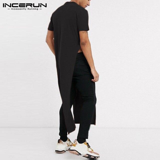 Фото футболка incerun мужская с круглым вырезом модная уличная одежда цена