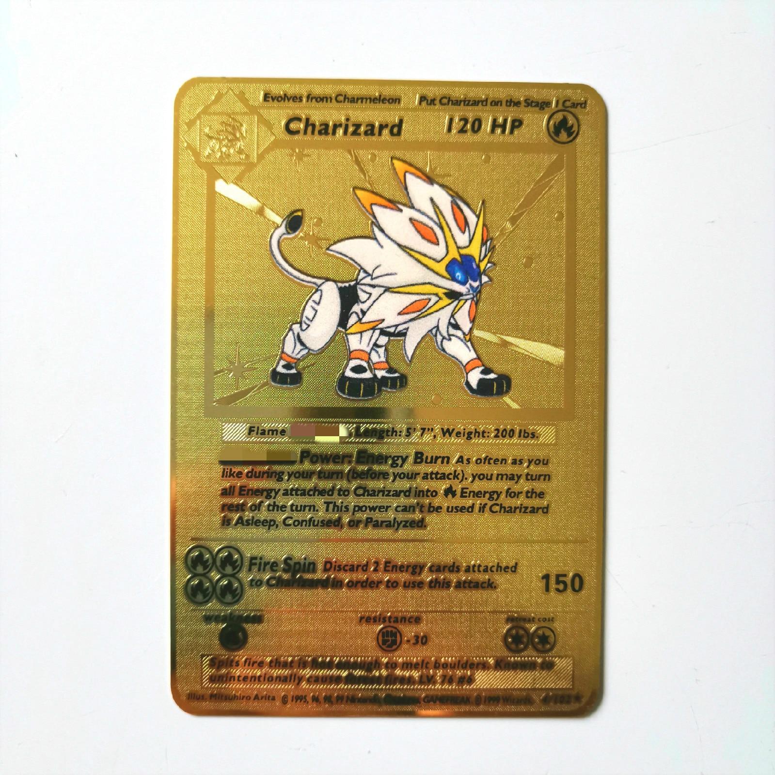 Dragon Ball золотая металлическая карточка супер игра Коллекция аниме-открытки игра детская игрушка - Цвет: K