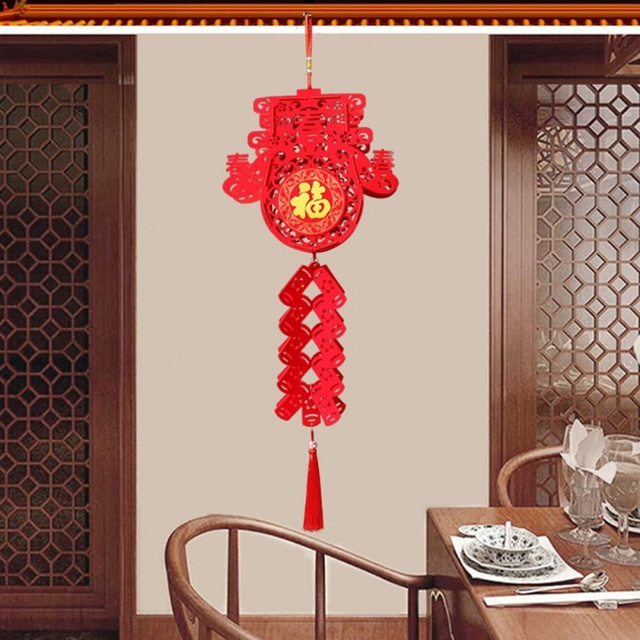 2020 Waterproof Good Fortune Red Paper Lanterns for Chinese New Year Spring Festival Party Celebration Home Decor 4