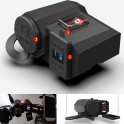 12 V-24 V USB zapalniczka samochodowa ładowarka LED moc wyświetlacza Bank gniazdo do zapalniczki Splitter Cover Adapter