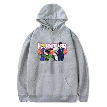 Hunter x Hunter bluzy męskie bluza dres Streetwear Anime Harajuku odzież codzienna Hunter x Hunter topy z kapturem XXS-4XL tanie tanio MUAYOU Wiosna i jesień Na co dzień CASUAL CN (pochodzenie) Pełna COTTON Poliester Drukuj REGULAR Hunter x Hunter Men Women Hoodie Sweatshirt