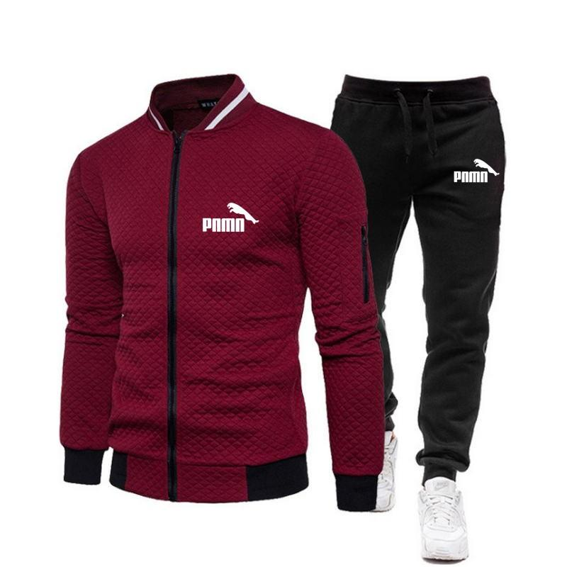 Brand Men Tracksuit 2 Pieces Men's Winter Jacket Casual Zipper Jackets Sportswear+Pants Sweatshirt Sports Suit Men Sets