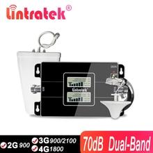 Lintratek GSM 3G Amplificatore 4G 2100Mhz WCDMA Ripetitore Del Segnale 2G 4G Celluar Reapeater 900 4G GSM LTE Moblie Ripetitore 65dB KW17L GD