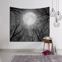 Modern Fashion Wall Cloth Tapestries Moon Mountains Tree Printed Wall Hanging Tapestry Living Room Decoration Yoga Mat Blanket hanging mountains boat lake wall tapestry