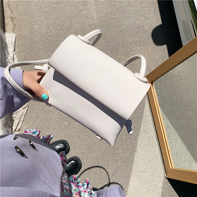 Simple Small Solid Color PU Leather Crossbody Bags For Women 2020 Summer Shoulder Hand Bag Travel Cute Handbags
