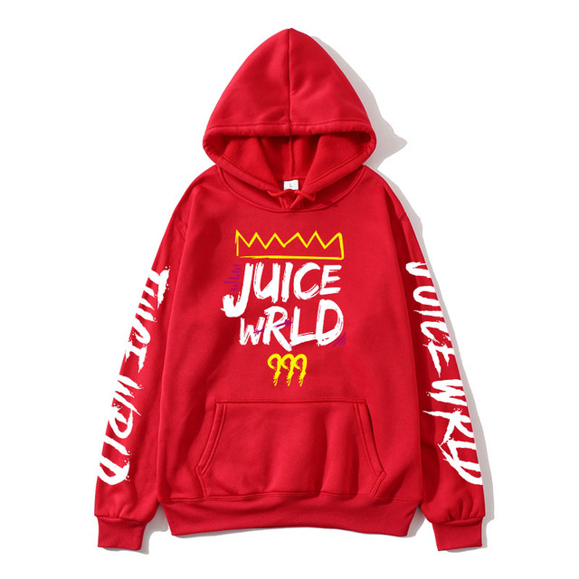2020 black and white red J UICEWrld hoodie   6