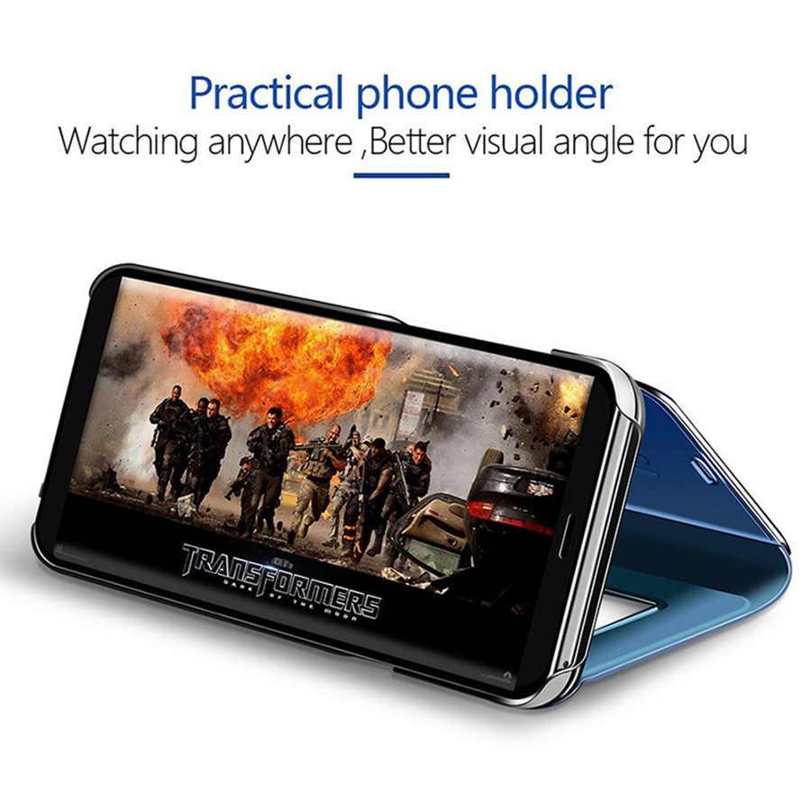 Умный зеркальный Чехол С Откидывающейся Крышкой для samsung Galaxy S10 S10E S8 S9 плюс S7 edge Note 8, 9, 10, J3 J5 J7 J6 J8 2017 A3 A5 A6 A7 A8 2019 крышка