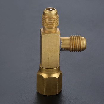 1/4inch Tee Adapter c/w Valves Core 1/4